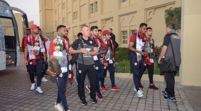 لقطات من وصول بعثة منتخبنا الوطني لكرة القدم إلى #الدوحة ومقر إقامتها بفندق جراند حياة إستعدادا للمشاركة في #خليجي24 #أهلا_بالجميع_في_دوحة_الجميع