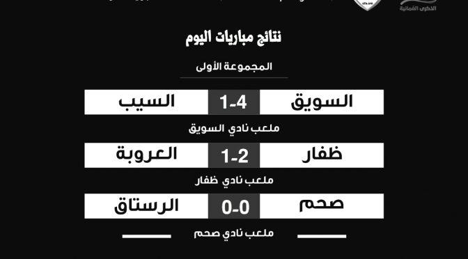 نتائج الدوري العماني تحت ١٦ سنه الجولة الثالثة للمرحلة الثانية